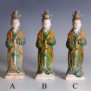 Ming Dynasty Green-Glazed Attendants