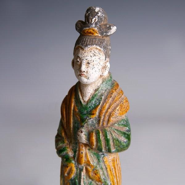 Ming Dynasty Green-Glazed Attendant