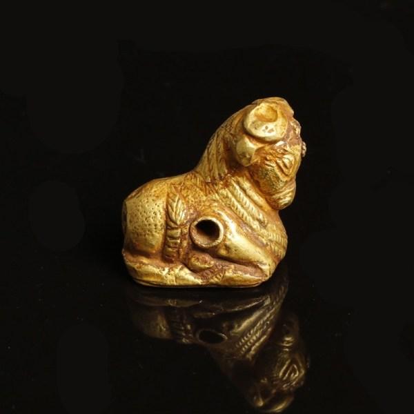 South Arabian Gold Bull Pendant