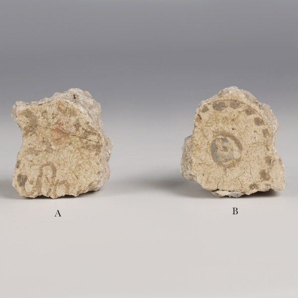 Selection of Pompeii Plaster Fragments with Pigments