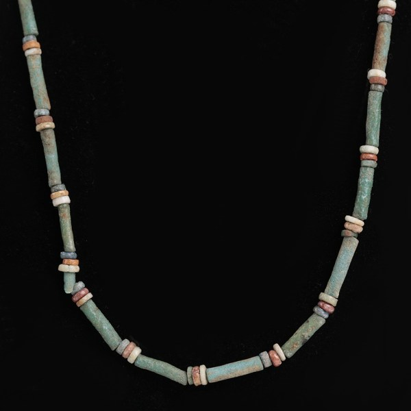 Egyptian Necklace with Faience Beads