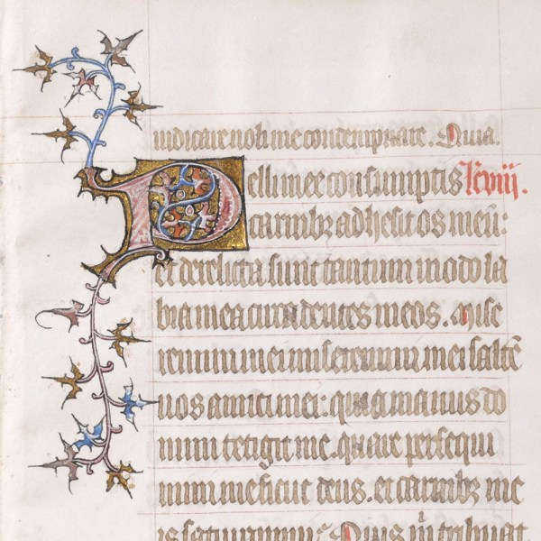 Medieval Book of Hours Leaf with Prayer