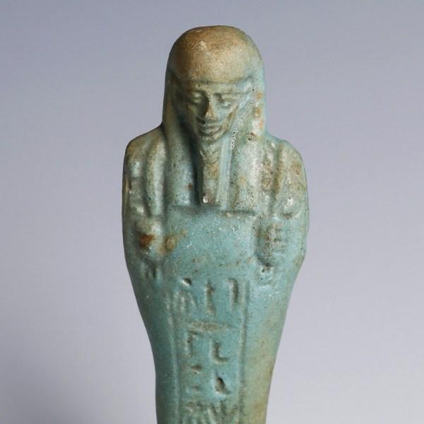 A Faience Ushebti with Hieroglyph Formula