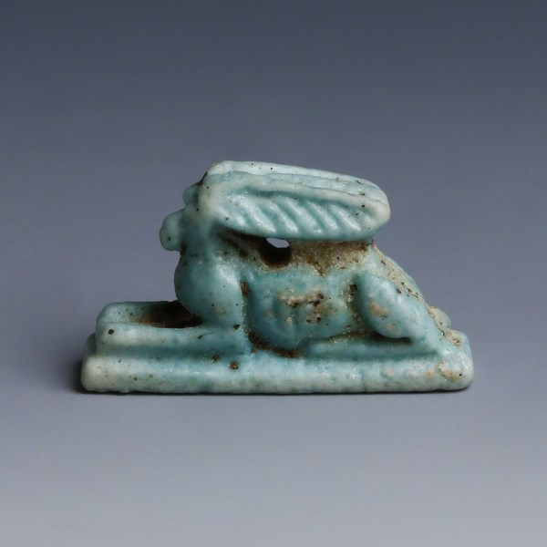 Egyptian Faience Amulet of a Hare