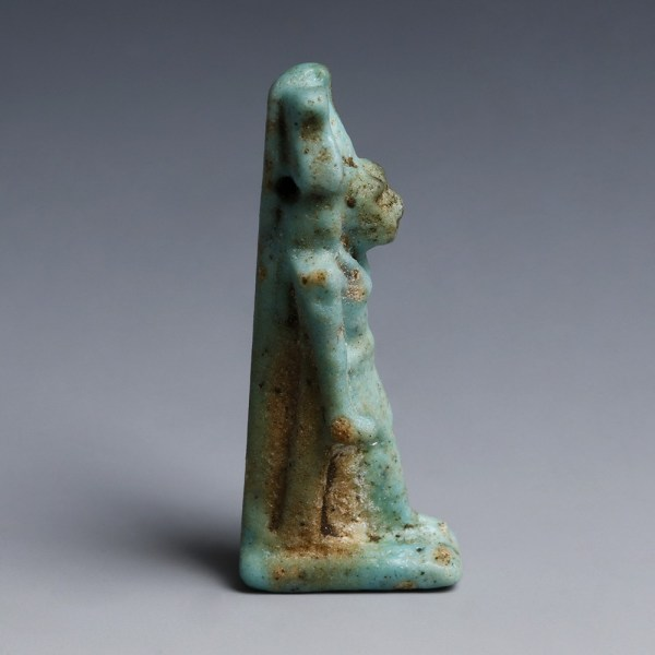 Egyptian Faience Amulet of Maahes