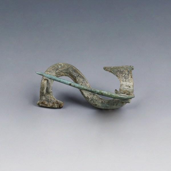 Romano-Celtic Bronze Fibula in Serpentine Shape