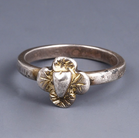 Late Medieval Silver Ring with Quatrefoil Bezel