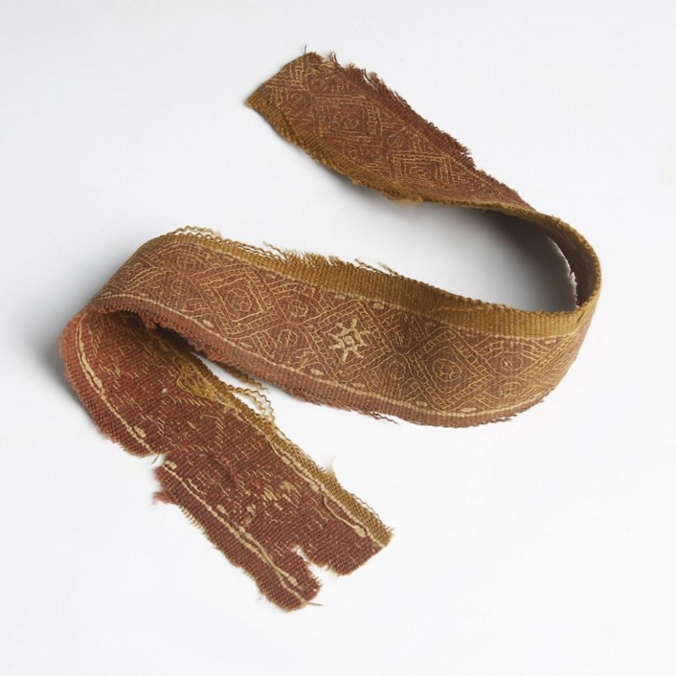 Red Wool Interlaced Coptic Strip