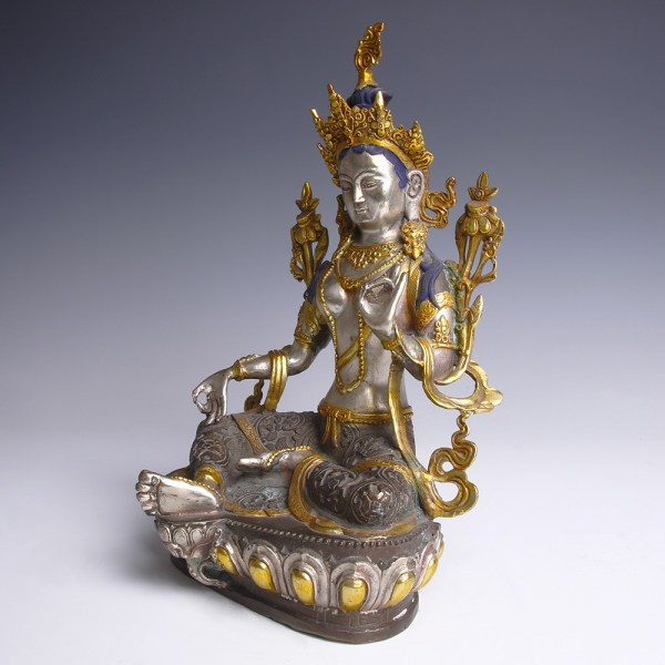 Seated Bronze Figurine of Green Tara