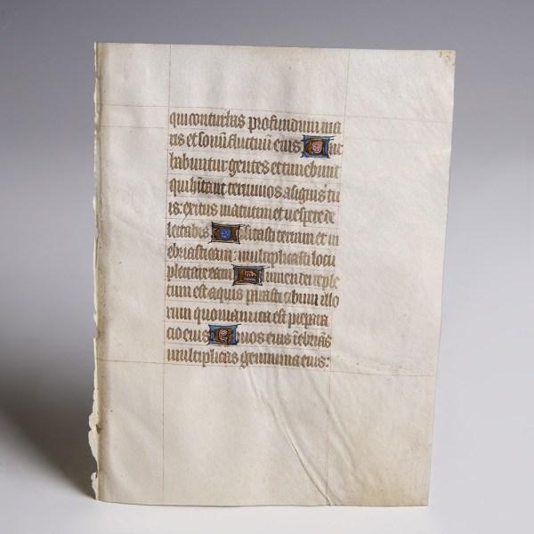 Illuminated Psalter with Psalm