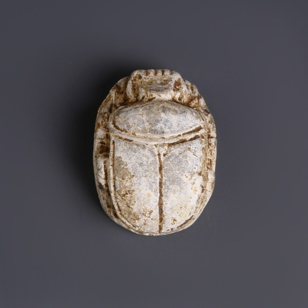 Egyptian Steatite Scarab with Throne Name of Thutmosis III