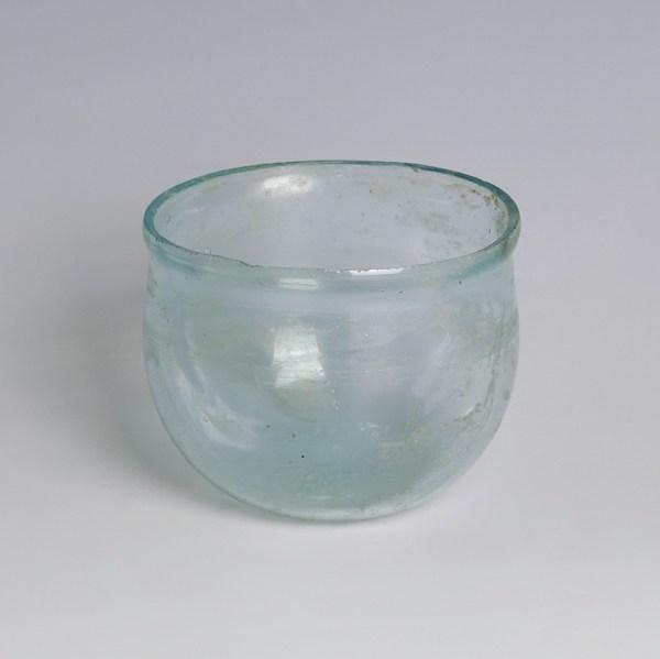 Roman Pale Blue Glass Cup