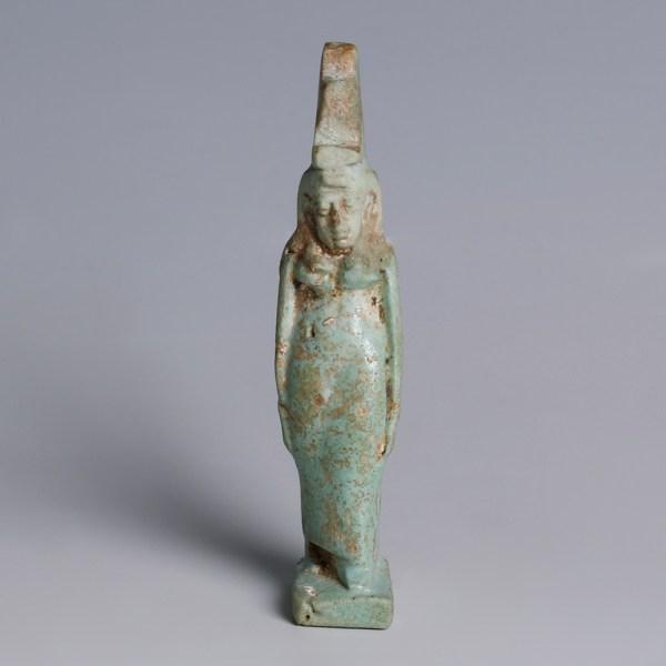 Egyptian Faience Goddess Isis Amulet