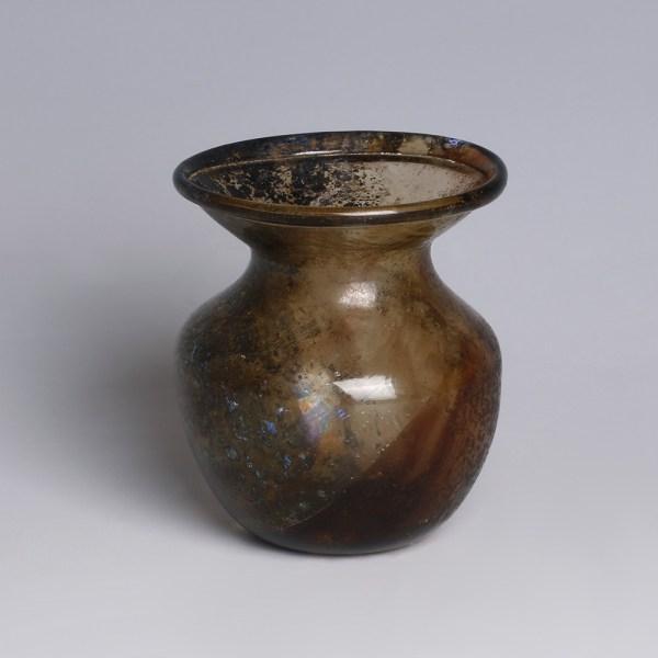 Roman Pale Brown Glass Jar