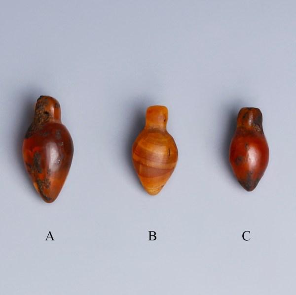 ancient egyptian carnelian heart amulets