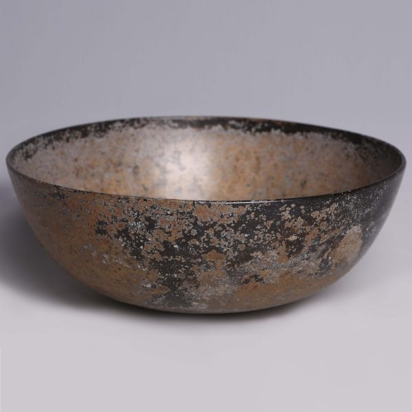 Assyrian Bronze Bowl with a Rosette