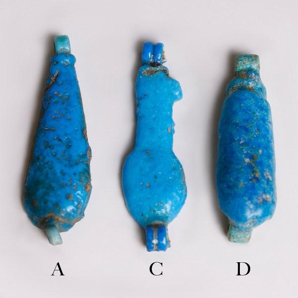 Egyptian Blue Faience Amulets