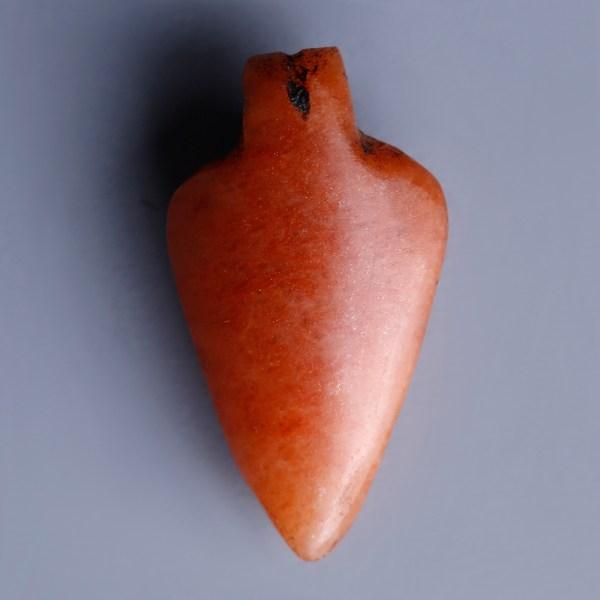 Egyptian Jasper Heart Amulet