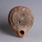 Roman Oil Lamp with Charioteer