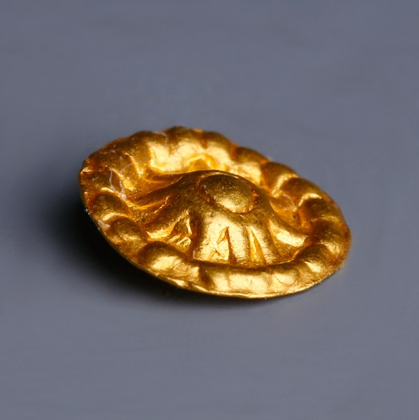 Viking Gold Sun Disc Applique