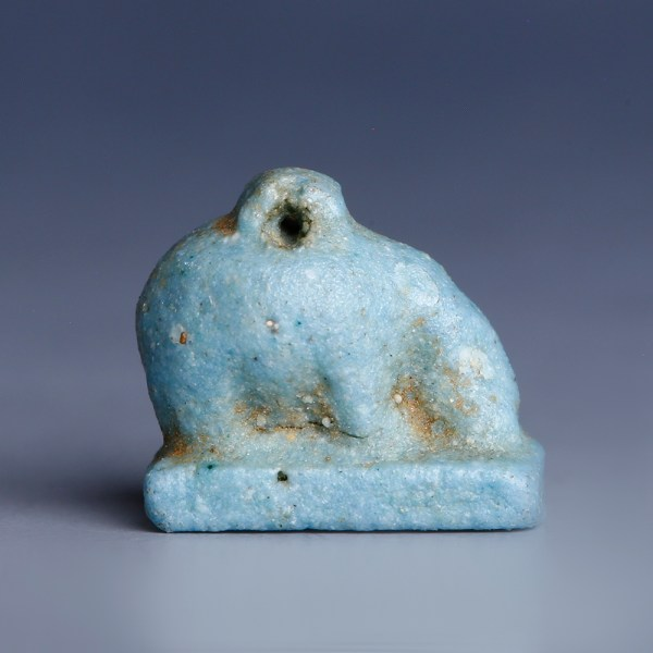 Egyptian Faience Amulet of Goddess Nut as a Sow