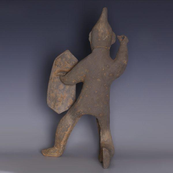 Han Dynasty Warrior Figure with Shield