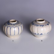hoi an blue white decorated jarlets 1