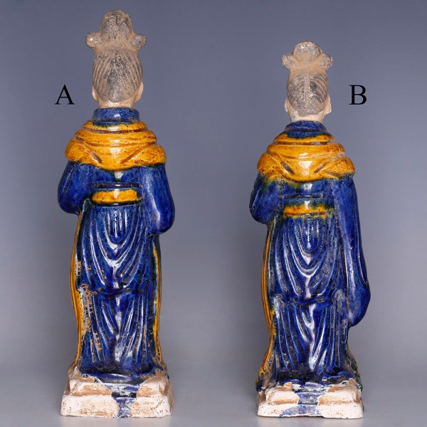 Selection of Ming Dynasty Glazed Attendants
