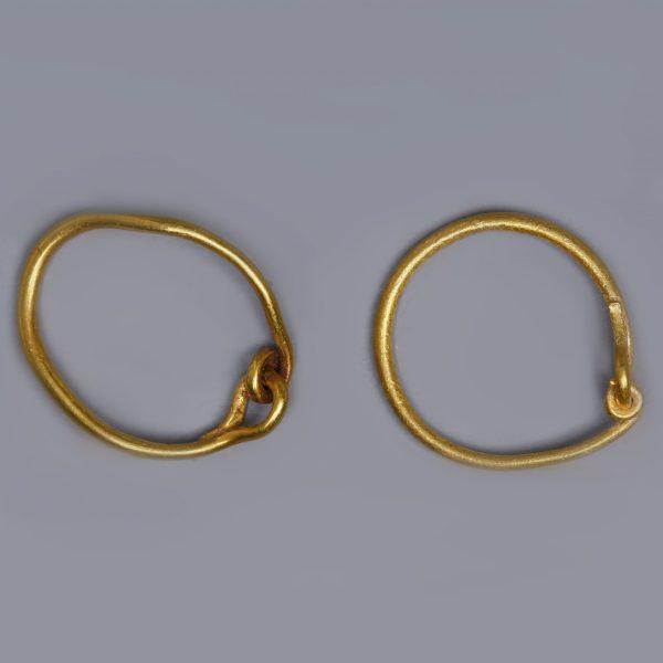 Roman Gold Loop Earrings