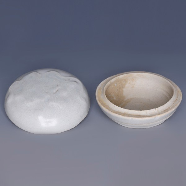 Tek Sing Small Circular White Glazed Box