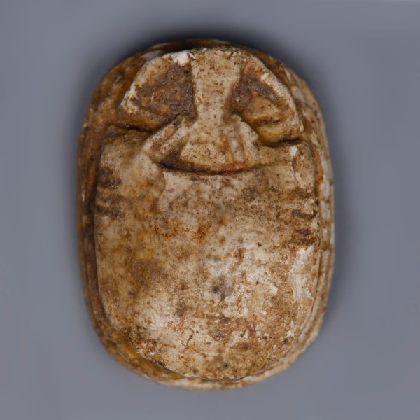 Egyptian Steatite Scarab Dedicated to Amun-Ra and Ma'at