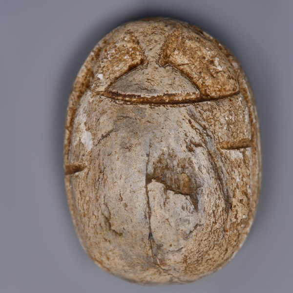 Egyptian Steatite Scarab dedicated to Amun, Ma'at and Ra