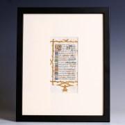 Framed Medieval Litany of the Saints Leaf