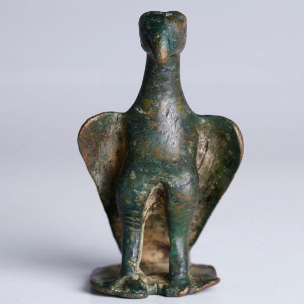 Ancient Roman Bronze Eagle Statuette