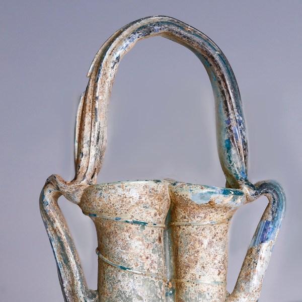 Ancient Roman Glass Double Balsamarium