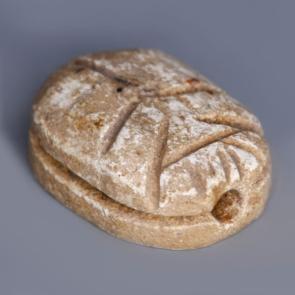 Egyptian Steatite Scarab with a Representation of Seth-Baal and a Uraeus