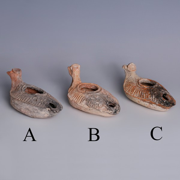 Selection of Byzantine Oil Lamps