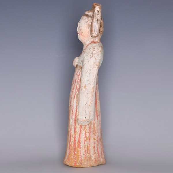 Tang Painted Terracotta Female Figurine