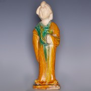 Tang Sancai-Glazed Standing Female Figurine