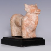 Hellenistic Terracotta Statuette of a Bull