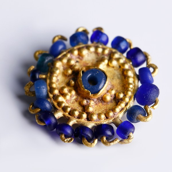 Near Eastern Applique with Blue Glass Beads