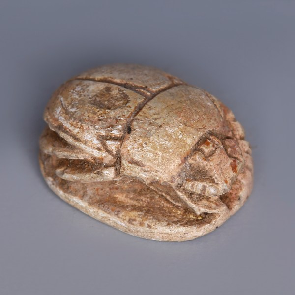 Egyptian Steatite Scarab dedicated to Ma'at