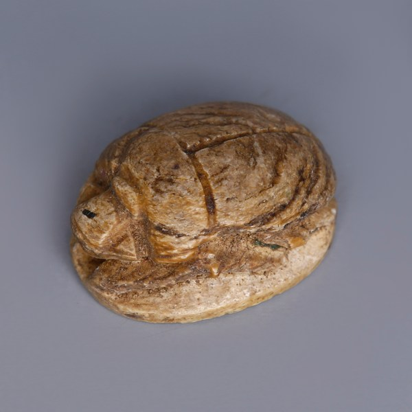 Egyptian Steatite Scarab Featuring Royal Cartouches