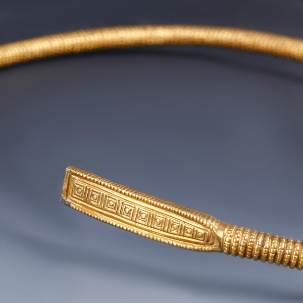 Exceptional Celtic Gold Plated Torc