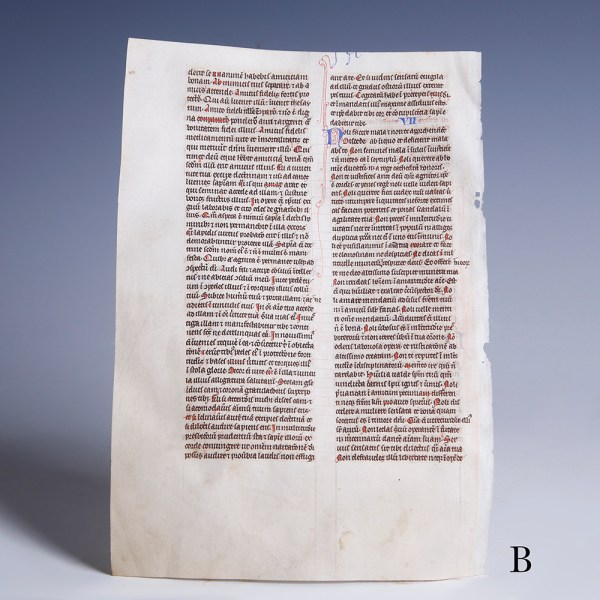 medieval british bible leaf