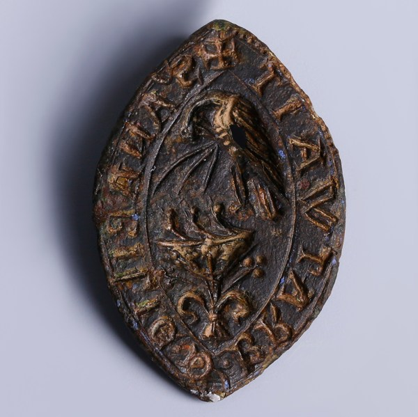 Medieval Person Bronze Seal with 'Pelican in her Piety'