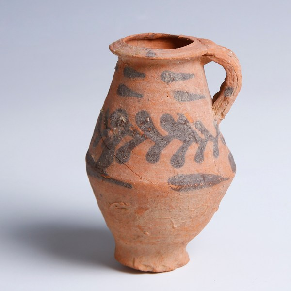Nabataean Decorated Red Terracotta Vessel