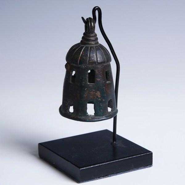 Roman Bronze Bell with Dark Patina