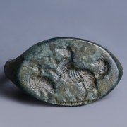 Roman Bronze Ring with Engraved Bezel