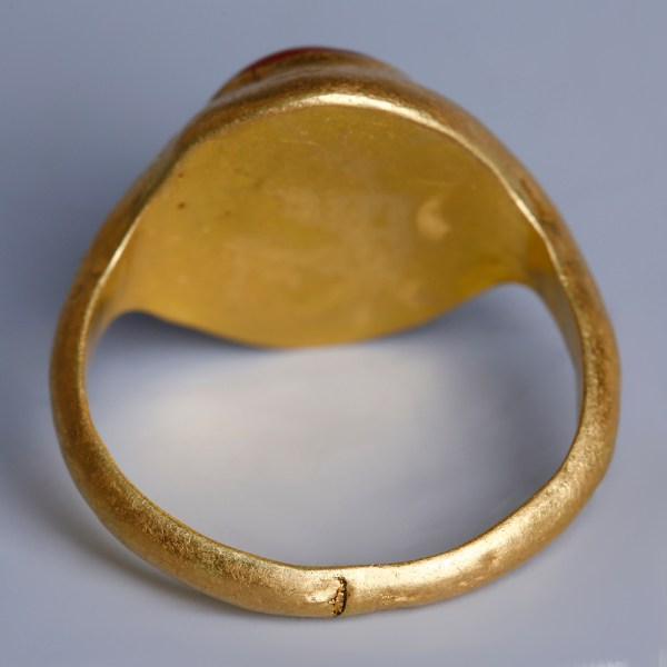 Roman Gold Ring with a Carnelian Intaglio